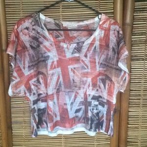 Forever 21 Union Jack Graphic Tee